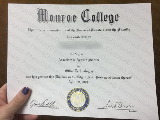 Usa Monroe College Photo Free Sample From Phonydiploma
