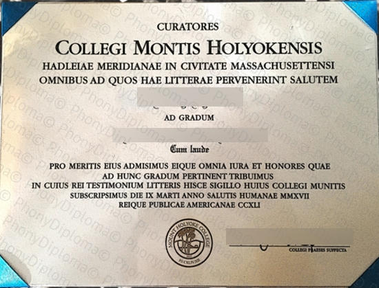 Usa Mount Holyoke College Free Sample From Phonydiploma