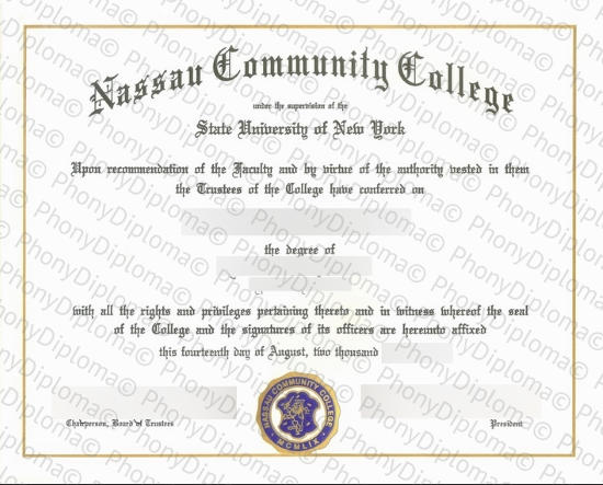Usa Nassau Community College Free Sample From Phonydiploma
