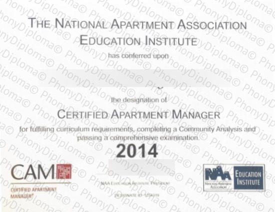 Usa National Apartment Association Istitute Free Sample From Phonydiploma