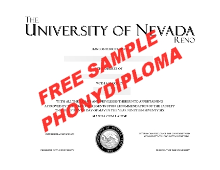 Usa Nevada University Of Reno Actual Match Transcript Free Sample From Phonydiploma