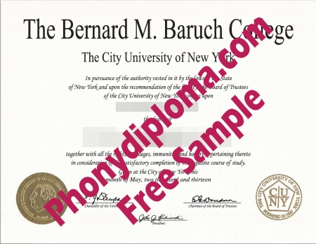 Usa New York Bernard M Baruch College New York Free Sample From Phonydiploma