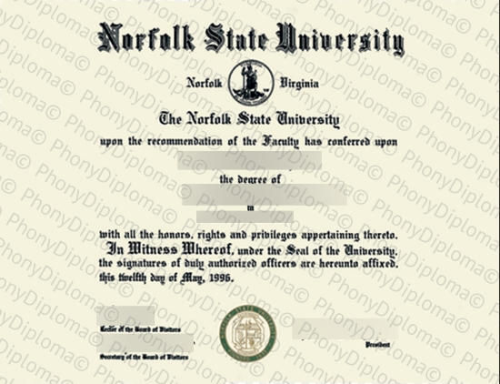 Usa Norfolk State University Free Sample From Phonydiploma
