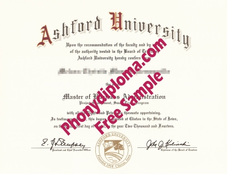 Usa North Carolina Ashford University Free Sample From Phonydiploma