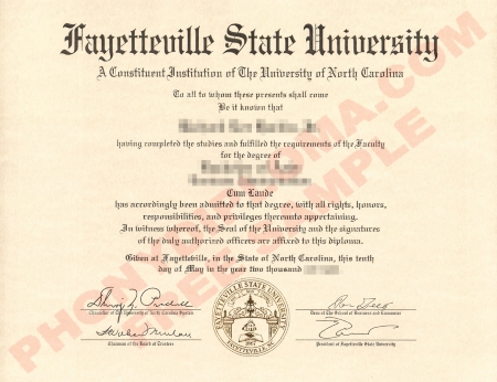 Usa North Carolina Fayetteville State University Free Sample From Phonydiploma