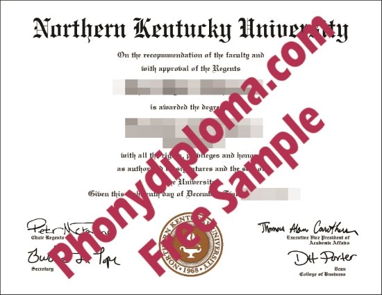 Usa Northern Kentucky University Free Sample From Phonydiploma