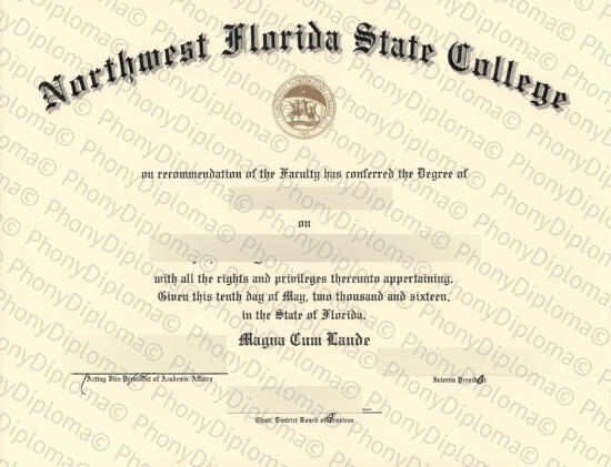 Usa Northwest Florida State College Free Sample From Phonydiploma