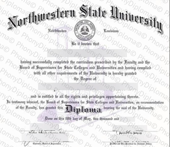 Usa Northwestern State University Louisiana Free Sample From Phonydiploma