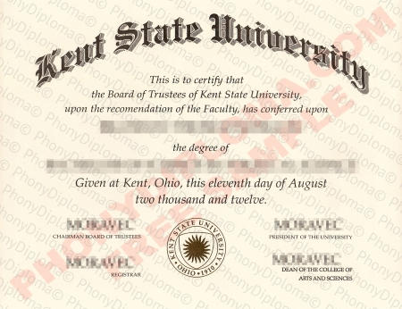 Usa Ohio Kent State University Free Sample From Phonydiploma (1)