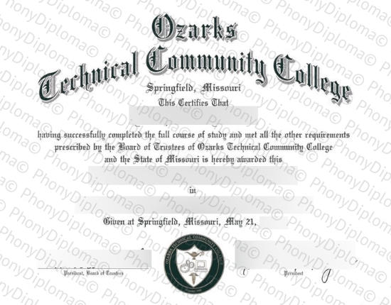 Usa Ozarks Technical Community College Free Sample From Phonydiploma
