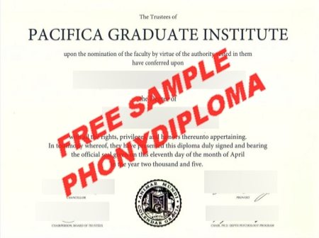 Usa Pacifica Graduate Institute Free Sample From Phonydiploma