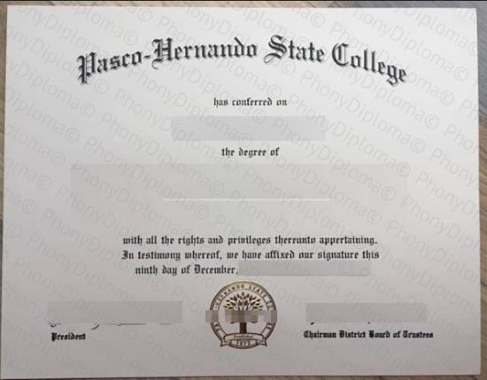 Usa Pasco Hernando State College Florida Free Sample From Phonydiploma