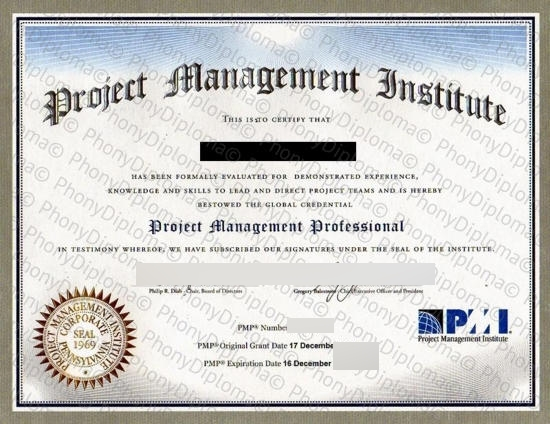 Usa Pennsylvania Project Management Institute Pmi Free Sample From Phonydiploma