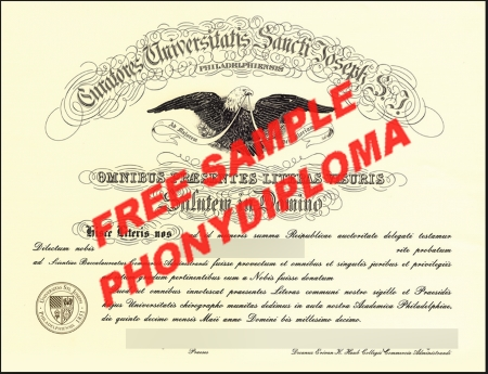 Usa Pennsylvania Saint Josephs College Free Sample From Phonydiploma