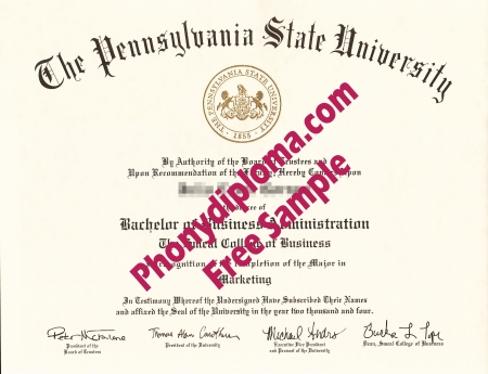 Usa Pennsylvania State University All Campuses Except University Park Free Sample From Phonydiploma