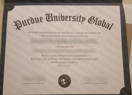 Usa Purdue University Global Free Sample From Phonydiploma