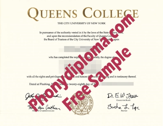 Usa Queens College Free Sample From Phonydiploma