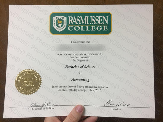 Usa Rasmussen College Photo Free Sample From Phonydiploma