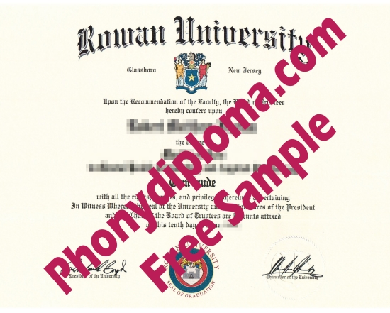 Usa Rowan University Free Sample From Phonydiploma