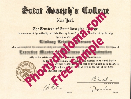 Usa Saint Joseph's College Free Sample From Phonydiploma