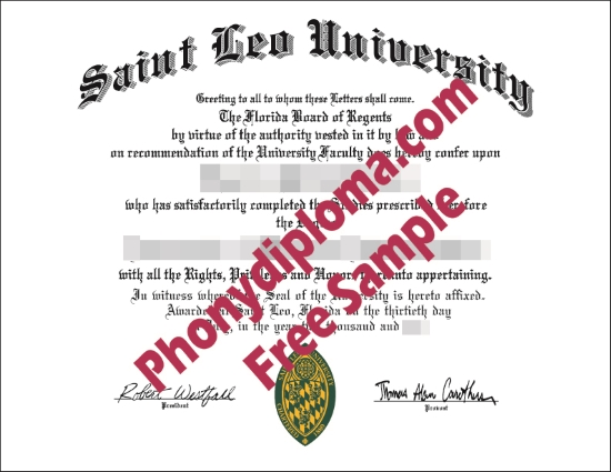 Usa Saint Leo University Free Sample From Phonydiploma