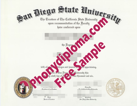 Usa San Diego State University Free Sample From Phonydiploma