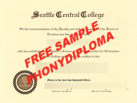 Usa Seattle Central College Free Sample From Phonydiploma