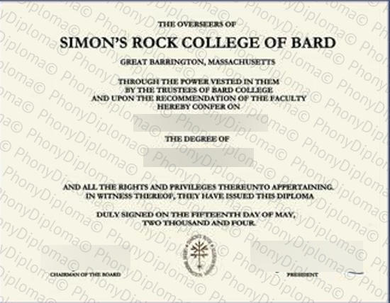 Usa Simon's Rock College Of Bard Free Sample From Phonydiploma