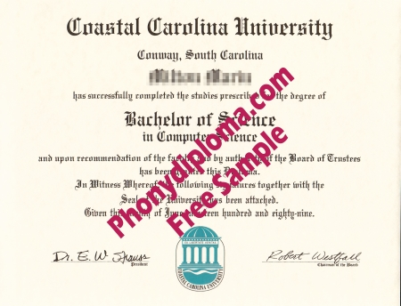 Usa South Carolina Coastal Carolina University Free Sample From Phonydiploma