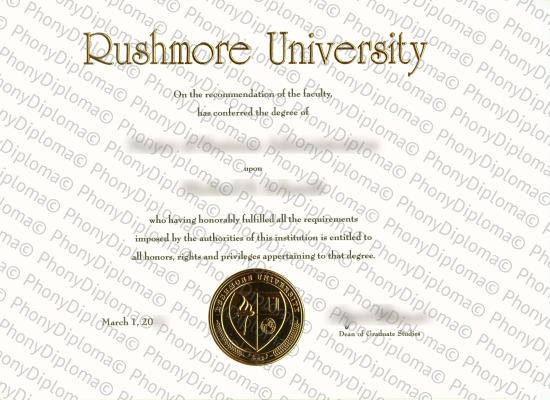 Usa South Dakota Rushmore University Free Sample From Phonydiploma