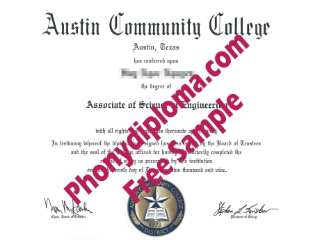 Usa Texas Austin Community College Free Sample From Phonydiploma