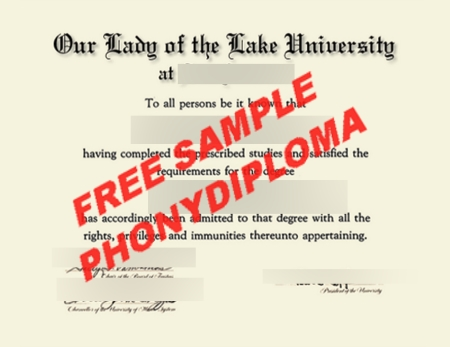 Usa Texas Our Lady Of The Lake University Free Sample From Phonydiploma