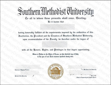 Usa Texas Southern Methodist University Free Sample From Phonydiploma (1)
