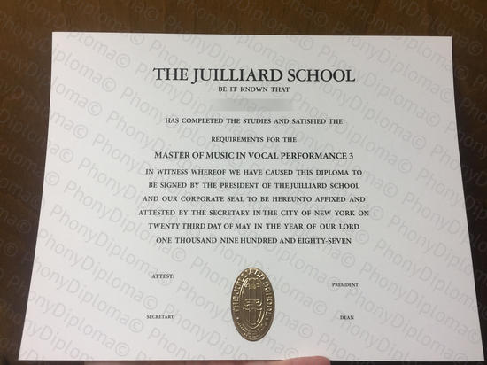 Usa The Julliard School Photo Free Sample From Phonydiploma