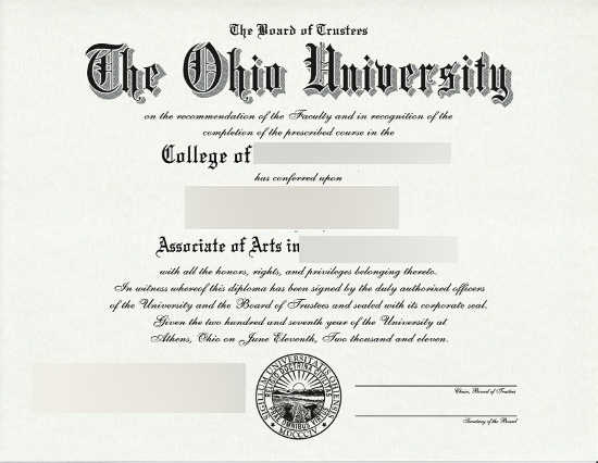 Usa The Ohio University Diploma Free Sample From Phonydiploma