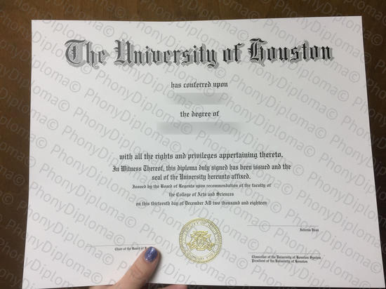 Usa The University Of Houston Free Sample From Phonydiploma