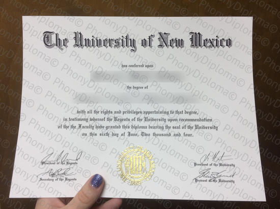 Usa The University Of New Mexico Free Sample From Phonydiploma