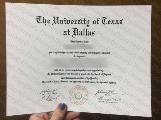 Usa The University Of Texas At Dallas Free Sample From Phonydiploma