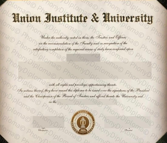 Usa Union Institute & University Free Sample From Phonydiploma
