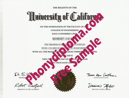 Usa University Of California Davis Free Sample From Phonydiploma