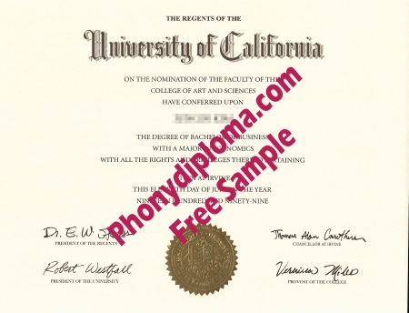 Usa University Of California Irvine Free Sample From Phonydiploma