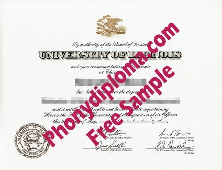 Usa University Of Illinois At Chicago Free Sample From Phonydiploma