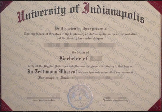 Usa University Of Indianapolis Free Sample From Phonydiploma