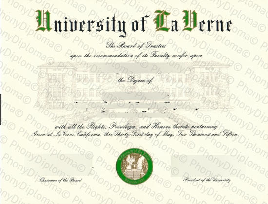 Usa University Of Laverne La Verne Free Sample From Phonydiploma