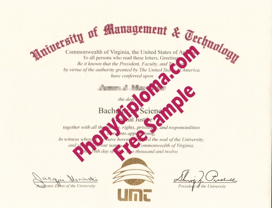 Usa University Of Management & Technology Free Sample From Phonydiploma