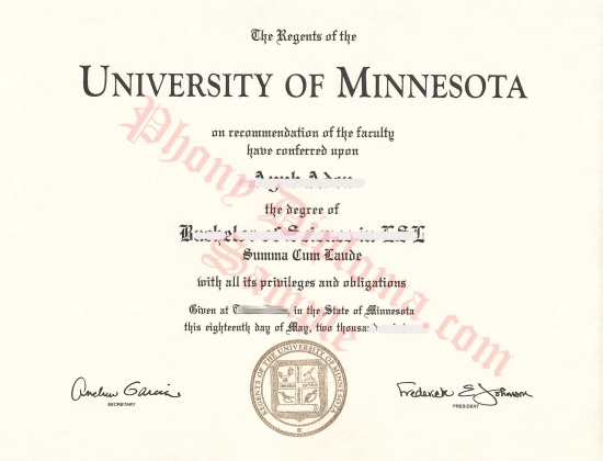 Usa University Of Minnesota Duluth Free Sample From Phonydiploma