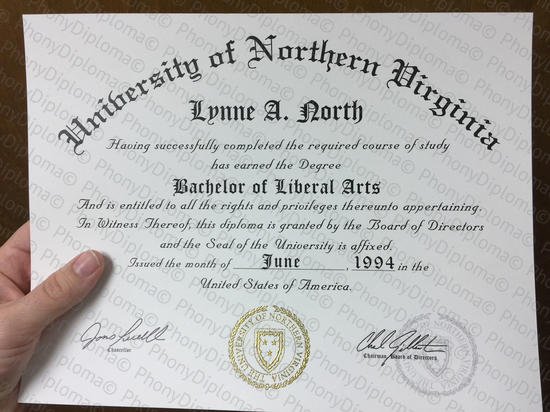 Usa University Of Northern Virginia Fake Diploma From Phonydiploma