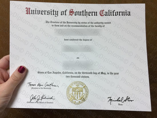 Usa University Of Southern California Photo Free Sample From Phonydiploma