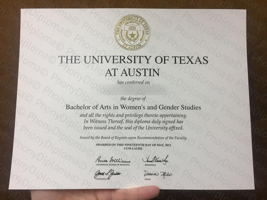 Usa University Of Texas Austin Photo Free Sample From Phonydiploma