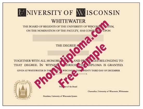 Usa University Of Wisconsin At Whitewater Free Sample From Phonydiploma